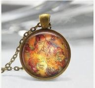 Bylo nebylo (Once Upon a Time) náhrdelník Neverland mapa