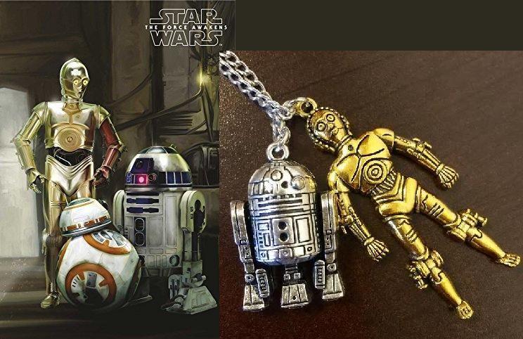 Star Wars - náhrdelník R2D2 s C3PO4
