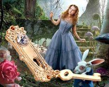 Alenka v říši divů (Alice in Wonderland) - náhrdelník Klíč
