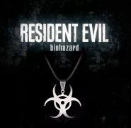 Resident Evil náhrdelník Biohazard (ocel)
