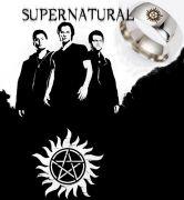 Supernatural (Lovci duchů) prsten tetování stříbrný