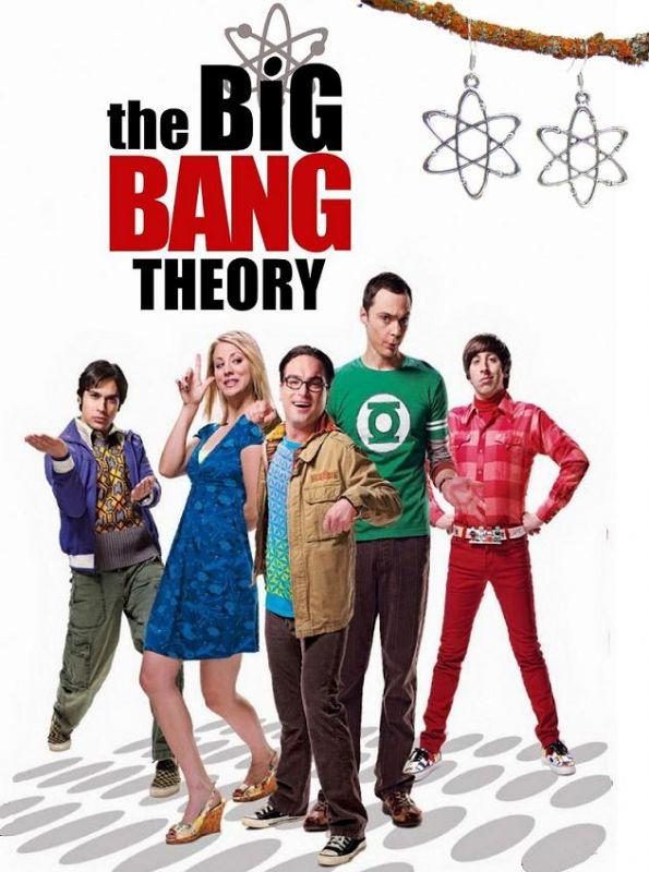 velkého třesku (The Big Bang Theory) náušnice Atom