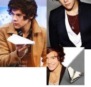Harry Styles náhrdelník (papírová vlaštovka)