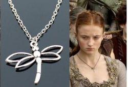 Hra o trůny (Game of Thrones) náhrdelník Sansa Stark vážka typ 2