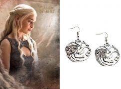 Hra o trůny (Game of Thrones) náušnice Targaryen Sigil velké