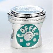 Korálek na náramek coffee