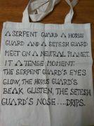 Plátěná taška ručně malovaná - motiv Stargate