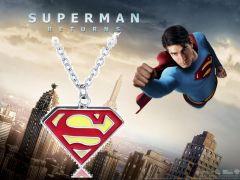 Superman - náhrdelník Logo