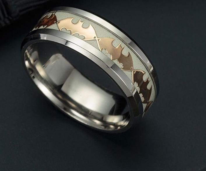 Batman prsten svítící (ocel)