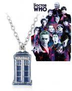 Doctor Who - Tardis 3D náhrdelník modrý