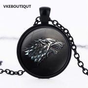 Hra o trůny (Game of Thrones) náhrdelník Stark černý