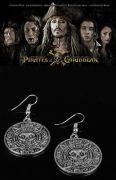 Piráti z Karibiku (Pirates of the Caribbean) náušnice Aztécká mince