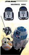 R2D2 náušnice Star Wars