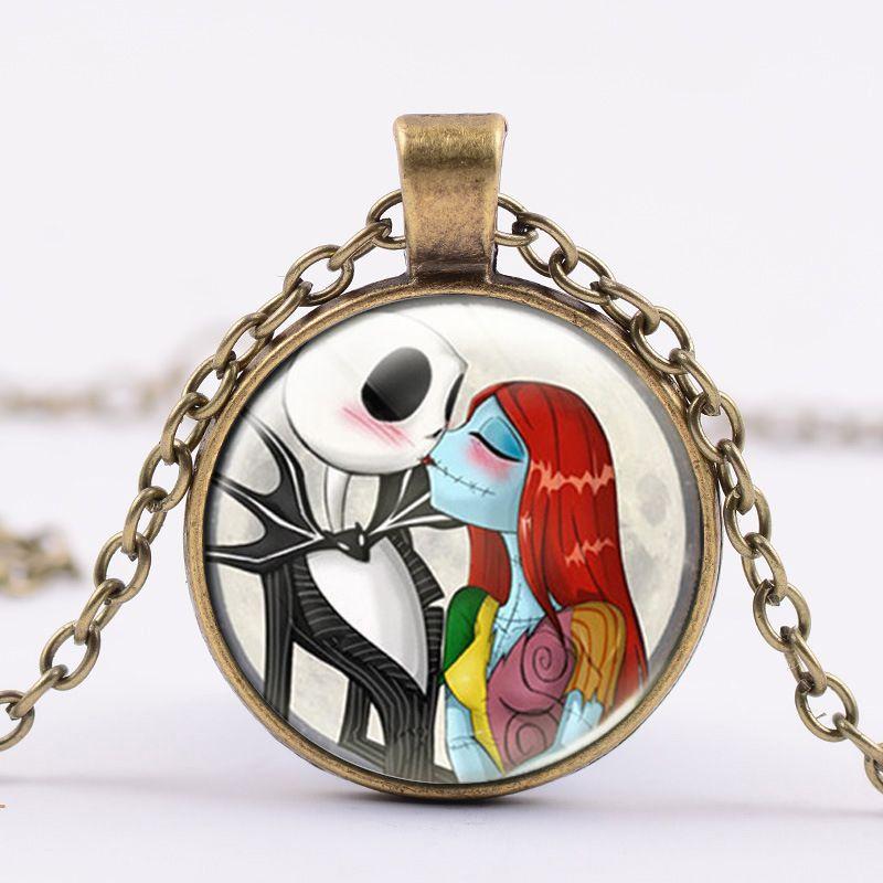 Tim Burton - náhrdelník Nightmare Before Christmas Jack a Sally