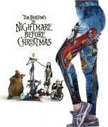 Tim Burton: Nightmare before christmas (Ukradené vánoce) legíny