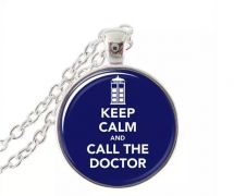 Doctor Who - náhrdelník Keep Calm and Call The Doctor