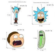 Rick And Morty - set odznaků 4 ks
