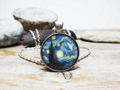 Vincent van Gogh: Hvězdná noc náhrdelník