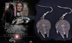 Star Wars - náušnice Millennium Falcon