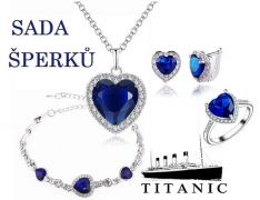 Titanic sada šperků Srdce oceánu