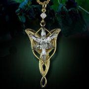 Pán prstenů (Lord of the Rings) náhrdelník Arwen Evenstar (zlatá)