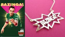 Teorie velkého třesku (The Big Bang Theory) náhrdelník Bazinga!