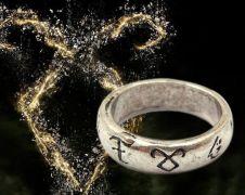 The Mortal Instruments - runový prsten s řetízkem