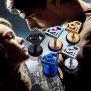 Superman - náušnice Logo (ocel) šroubovací