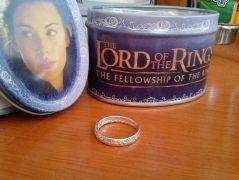 Pán prstenů (Lord of the Rings) - Prsten moci dámský (postříbřený)