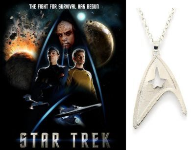 Star Trek - náhrdelník znak velitelské divize Hvězdné flotily (Starfleet Command Division) bižu