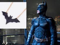 Batman - náhrdelník Bat černý