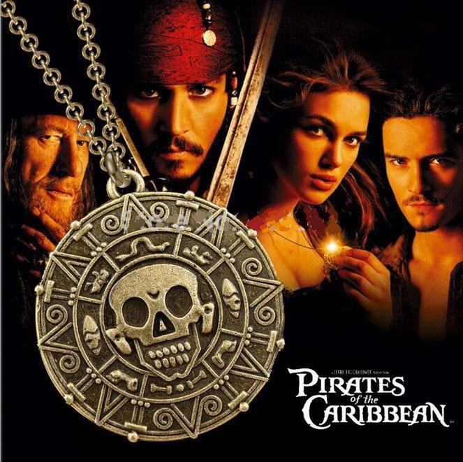 řetízek Piráti z Karibiku Aztécká mince bronzová