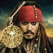 Piráti z Karibiku - náhrdelník Aztécká mince (zlatá)