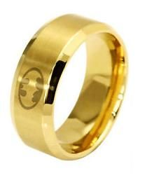 prsten Batman Logo (ocel) zlatý