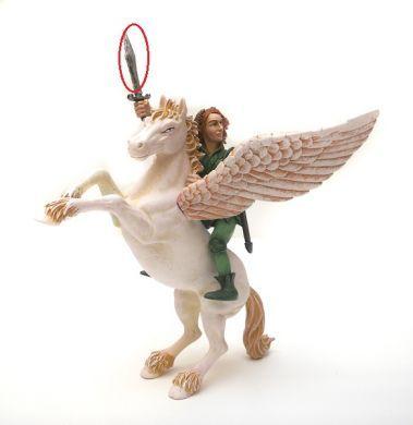figurka Pegas s elfem DEFEKT Plastoy