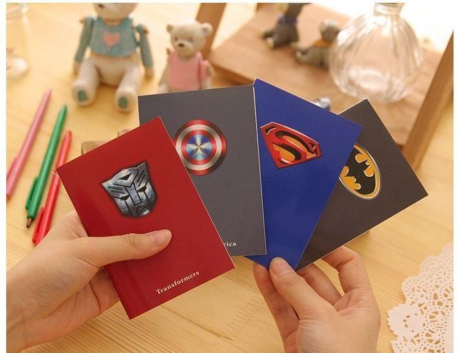 Notýsek Batman, Transformers, Cpt. America, Superman