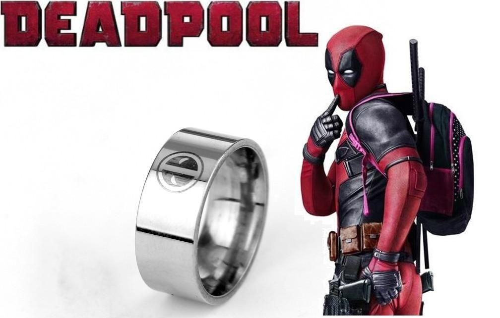 Deadpool prsten Logo (ocel) stříbrný