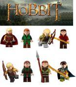 Hobit (The Hobbit) Blocks Bricks Lego figurka | Arwen, Bilbo, Bilbo s prstenem, Frodo s prstenem, Haldir (Lórien), Smíšek