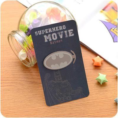 kancelářská spona záložka Superhrdinové