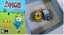 Adventure Time náušnice Jake a Finn
