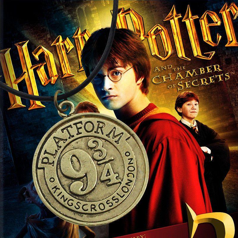 Náhrdelník Harry Potter Nástupiště 9 3/4 bronzový