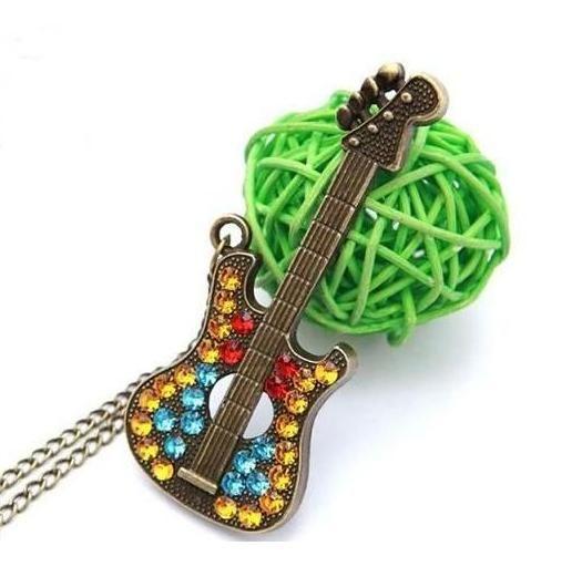 řetízek kytara s kamínky