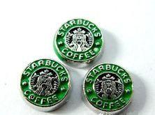Plovoucí vkládací ozdoba do okénkového medailonku Starbucks coffee