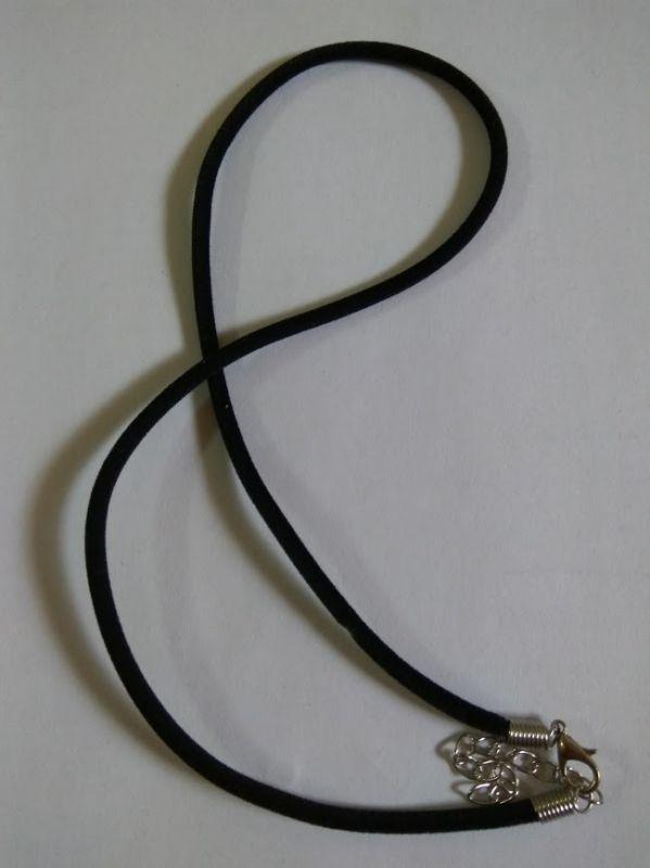 náhrdelník kulatý obojek Sametka 3 mm