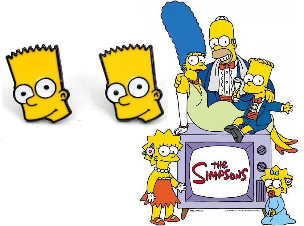 Simpsonovi (The Simpsons) náušnice Bart