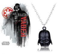 Star Wars náhrdelník Darth Vader černý