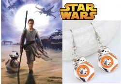 náušnice Star Wars BB-8