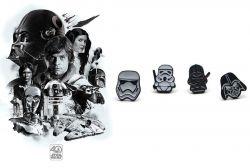 Star Wars náušnice Dark Side (Darth Vader, Stormtrooper)