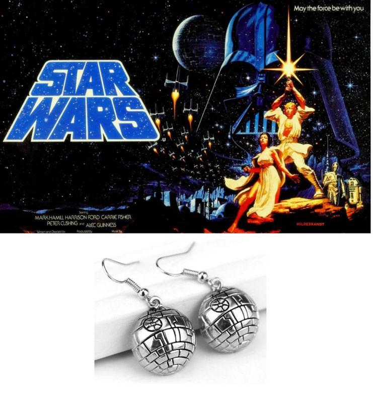 Visací náušnice Star Wars Hvězda smrti (Death Star)
