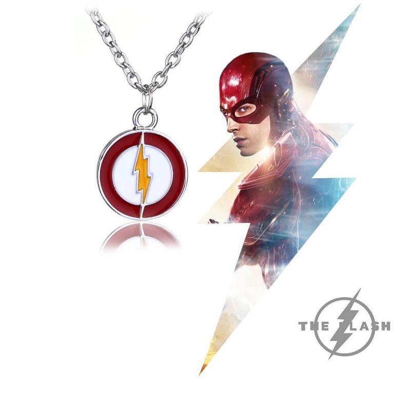 The Flash - náhrdelník Logo smaltovaný